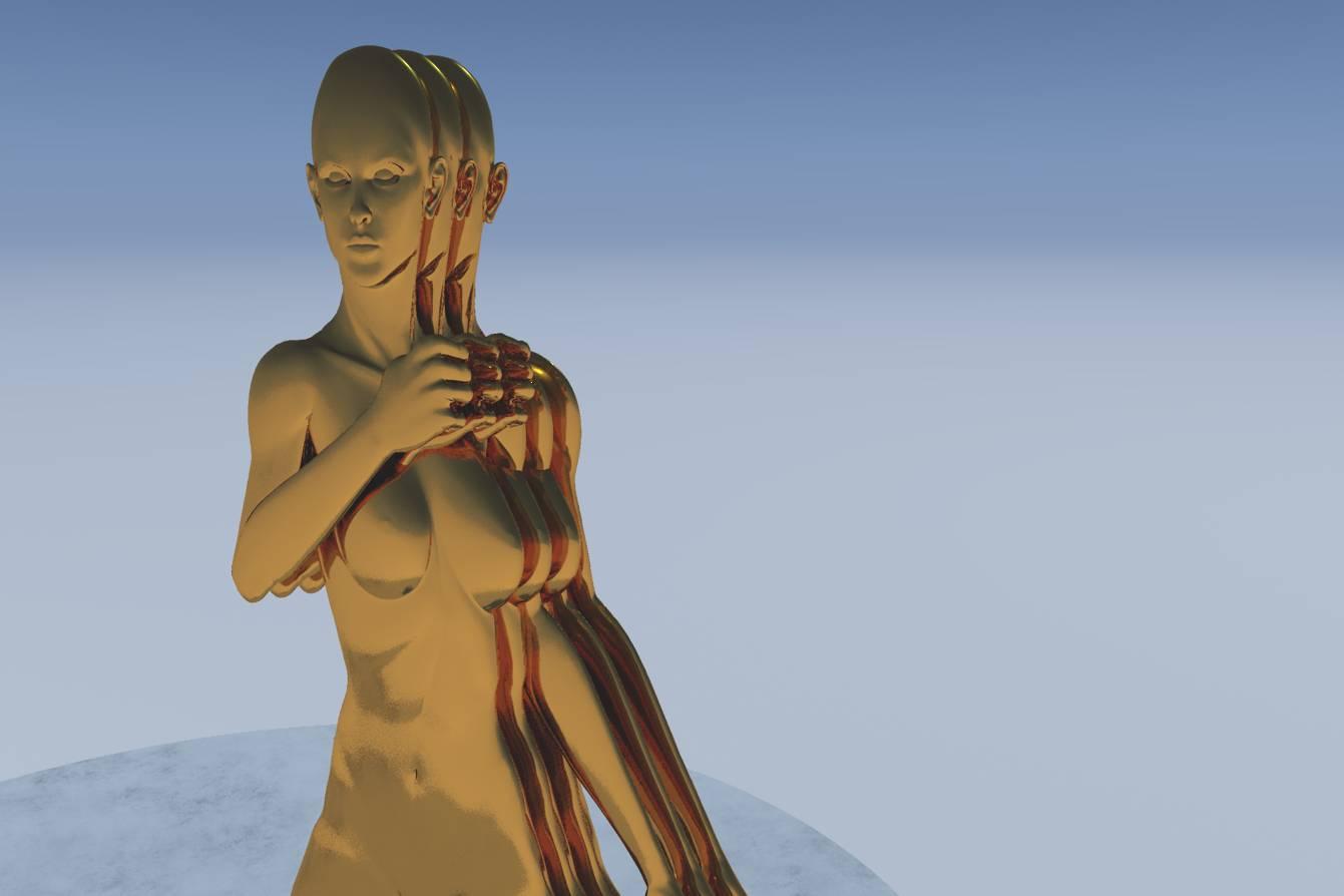 3D Kunst, Human Metal, Stefan Hallerbach, 2018