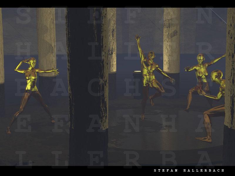 Tempel, Human Metal, 3D ART, Stefan Hallerbach