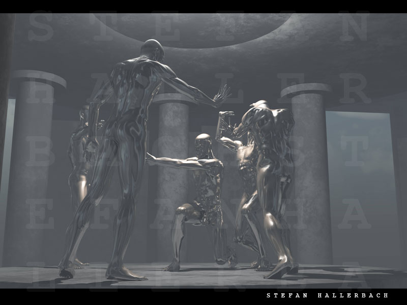 Tempel des Todes, Künstler Stefan Hallerbach