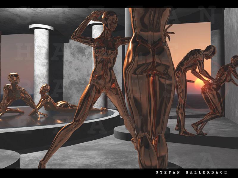 Tempel der Entweihten, Künstler Stefan Hallerbach