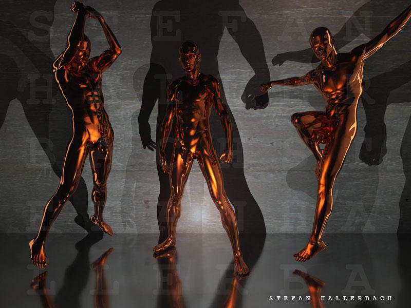 drei Tänzer, Künstler Stefan Hallerbach