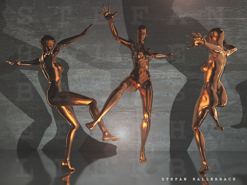 drei Tänzerinnen, Künstler Stefan Hallerbach