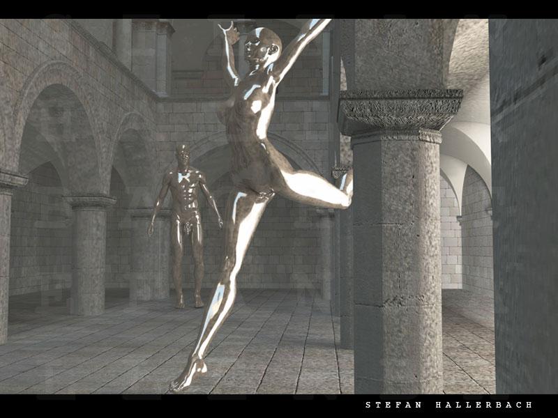 in der Burg der Tänzerin, 3D Kunst Stefan Hallerbach