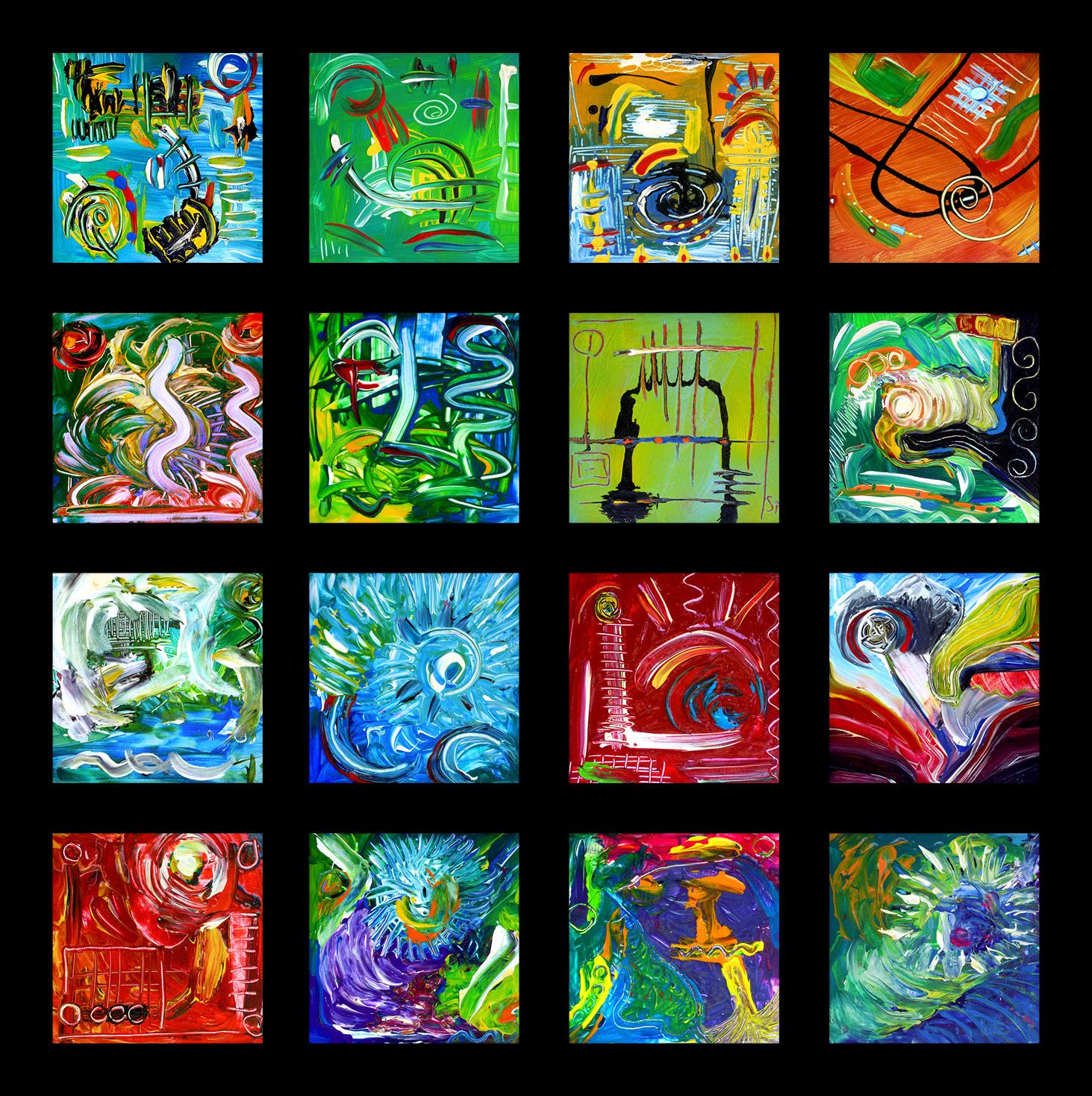 Kunstquadrate, Stefan Hallerbach, Acrylmalerei