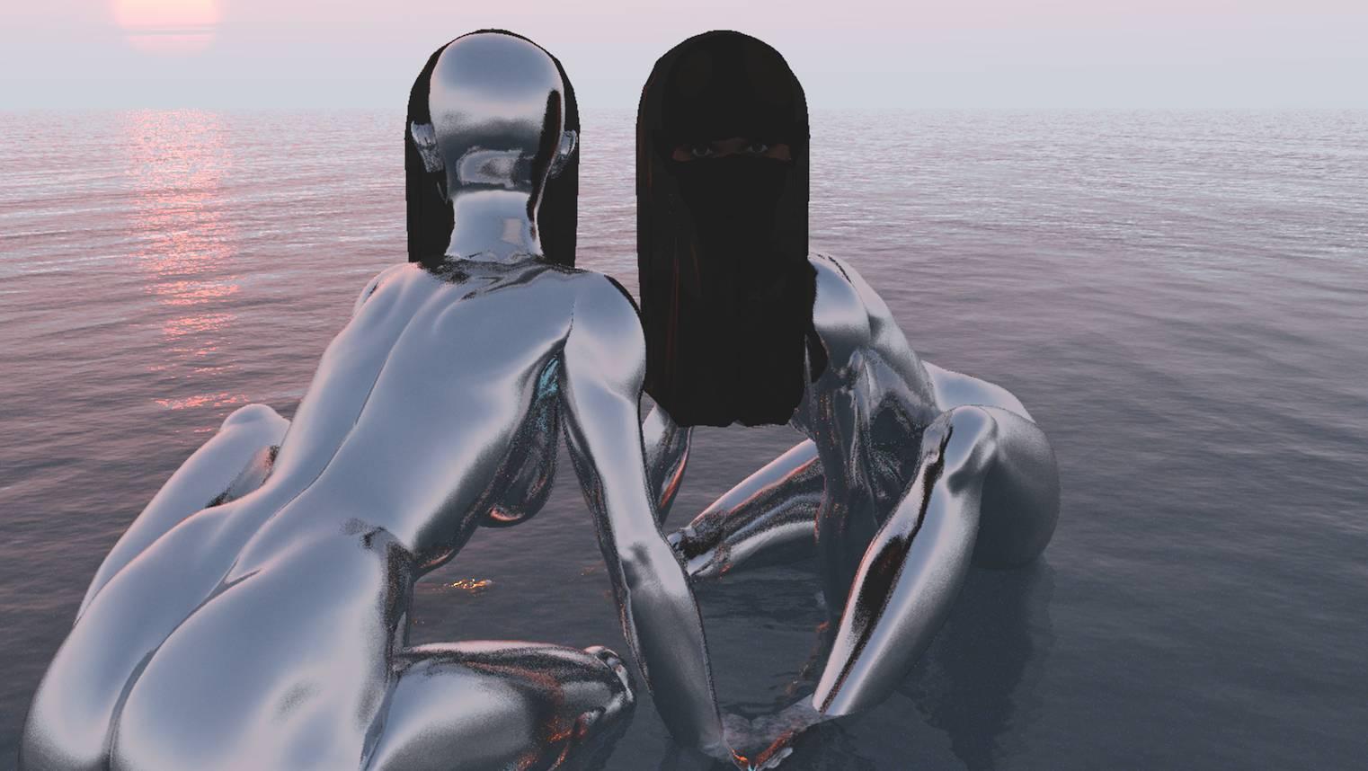 Provokative 3D Kunst, Human Metal, Stefan Hallerbach, 2016
