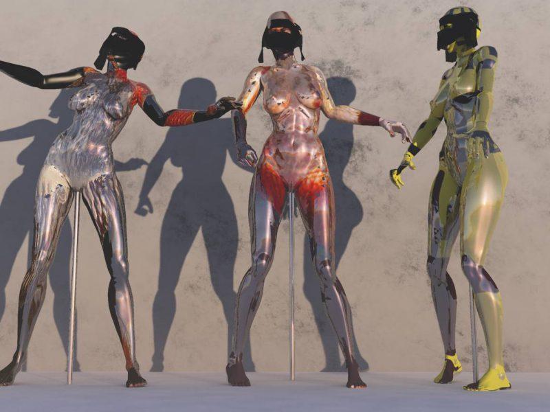 Provokative 3D Kunst, Human Metal, Stefan Hallerbach, 2017