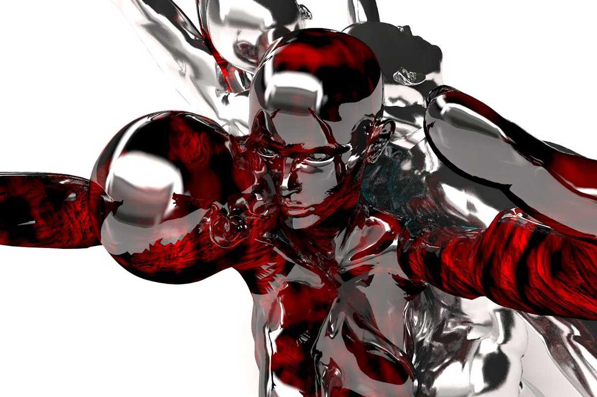 """""""Human Metal,"""" 3D ART, Stefan Hallerbach"""